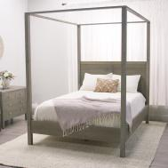 Really Interesting Presence Queen Canopy Bed Bedroomi