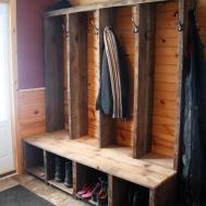 Reclaimed Barn Wood Entryway Bench Random