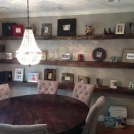 Reclaimed White Oak Floating Shelves Porter Barn Wood
