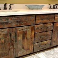 Reclaimed Wood Bathroom Vanity Home Design Decorating