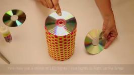 Recycled Lamp Old Cds