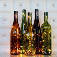 Recycled Wine Bottle Light Classygarbage Etsy