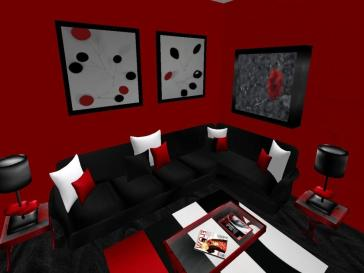 Red Black Living Room Decorating Ideas Home Design