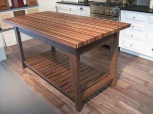 Red Saligna Frame Kitchen Garden Furniture Coffee Made