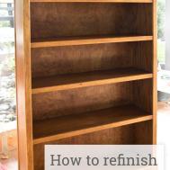 Refinishing Wood Bookcase Simple Practical Beautiful