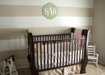 Remodelaholic Striped Nursery Wall