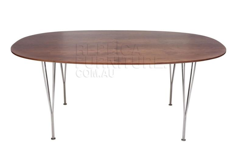 Replica Arne Jacobsen Super Elliptical Dining Table