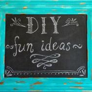 Repurposing Old Frame Chalkboard Writing Ideas