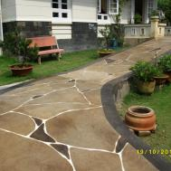 Residential Sidewalk Walkway Epoxy Coating Cny