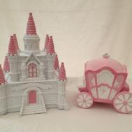 Resin Girls Princess Castle Carriage Money Box Piggy