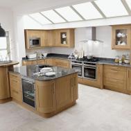 Retro Kitchen Design Ideas White Granite Countertop