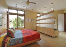 Room Divider Contemporary Master Bedroom