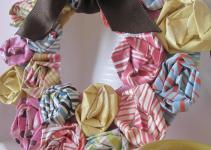 Ruffles Ric Rac Mini Spring Wreath Paper Rosette Tutorial