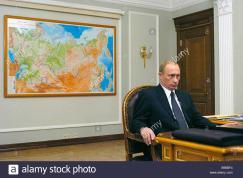 Russian President Vladimir Putin His Office Novo