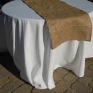 Rustic Burlap Table Runner Inches Long Ready Ship
