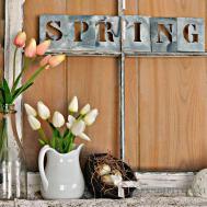 Rustic Farmhouse Spring Decor Ideas Designs 2017