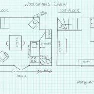 Rustic Grid Woodsman Cabin Small