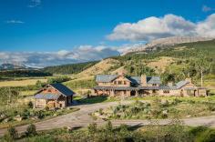 Rustic Modern Mountain Ranch Nestled Rugged Montana