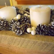 Rustic Winter Pine Cone Centerpiece Country Crafts