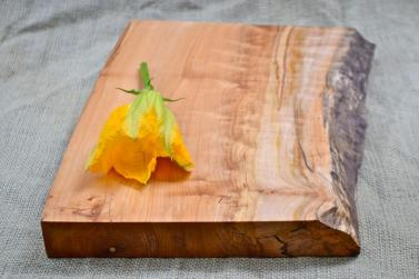 Rustic Wood Cutting Board Natural Edge Salvaged Maple 341