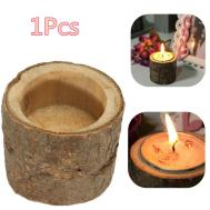 Rustic Wooden Candle Holder Tea Light Home Party
