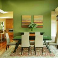 Sage Green Dining Design Creates Warm Feeling Room