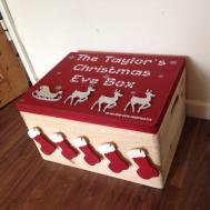 Sale Christmas Eve Box Large Family Decorated
