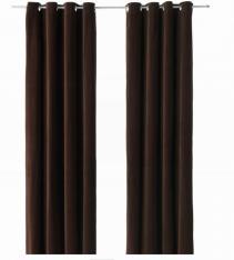 Sanela Curtains Drapes Panels Dark Brown Velvet 118