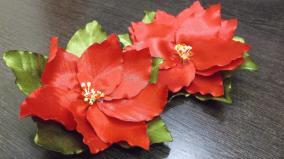 Satin Ribbon Poinsettia Flower Tutorial