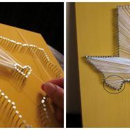 Semi Diy State Nail String Art