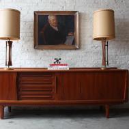 Sensational Danish Mid Century Modern Solid Teak Credenza