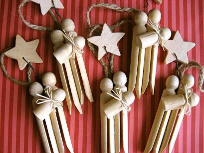 Set Clothespin Nativity Ornaments
