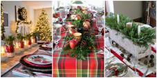 Set Table Christmas Dinner Canap