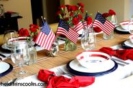 Setting Stars Stripes Table Heidikins Cooks