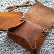 Sewing Leather Messenger Bag Just Clarification