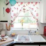 Shabby Chic Kitchen Curtains Red Floral Pattern Ideas Decoratorist 78077