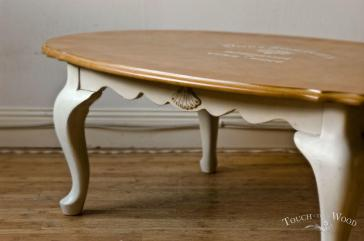 Shabby Chic Oval Coffee Table Touch Wood
