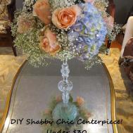 Shabby Chic Wedding Centerpiece Under