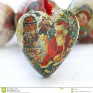 Shaped Heart Christmas Ornament Stock