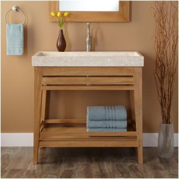 Shelves Furniture Vanity Shelf Bathroom Diy Open Shelving