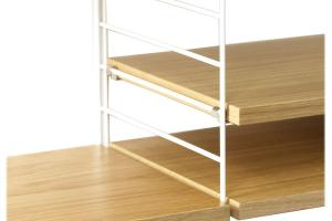Shelving System Oak Wood String