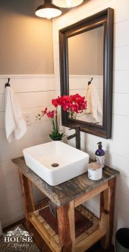Shiplap Powder Room Diy Vanity House Rumours