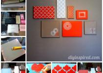 Shoe Box Lid Wall Art Diy Inspired