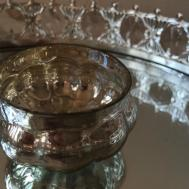 Silver Mercury Glass Pumpkin Tea Light Holders Vintage
