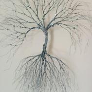 Silver Wire Wall Art Tree Life Decoration Decorative