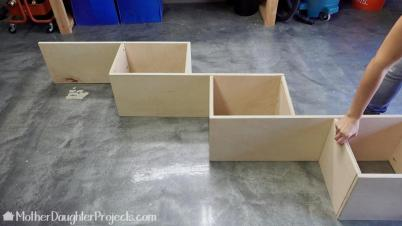 Simple Diy Plywood Shelf Mother Daughter Projects