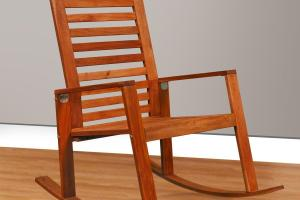 Simple Wood Rocking Chair Takes