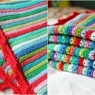 Skinny Stripe Crochet Blanket Pattern Stylesidea