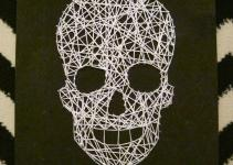 Skull String Art Diy Halloween