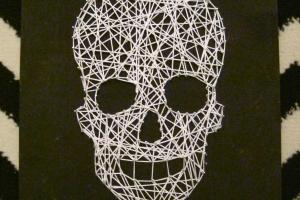 Skull String Art Diy Halloween